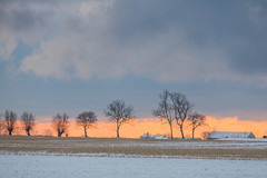 Winter scenery on the countryside