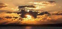 Sunset over Fife (Kyoshi Masamune) Tags: uk sunset sea panorama seascape clouds scotland edinburgh fife forth newhaven cloudscape firthofforth kingdomoffife fifecoastalpath citypanorama fifecoast inchmickery oxcarslighthouse forthdefences kyoshimasamune