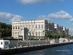 Dolmabahe Palace from Bosphorus 2 (Christopher M Dawson) Tags: travel building tourism architecture turkey ataturk istanbul palace international government sultan dawson turkish dolmabahe palace cmdawson 184356 2015 dolmabahe