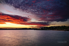 The Hell in the sky (German SC) Tags: longexposure autumn sea sky water clouds landscape mar spain mediterranean silk cel natura catalonia catalunya seda aigua salou posta tardor nuvols paisatge mediterrani tamron1750f28 llargaexposici atravsdelvisor sonyalphadslta65 germansc