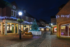 Farnham    *Explore* (sarah_presh) Tags: christmas decorations lights evening december lion newyear christmastree surrey shops bluehour farnham 2015 lionandlambyard nikond750