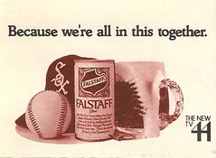 White Sox, Falstaff Beer and Channel 44. (Cragin Spring) Tags: city urban usa chicago beer hat illinois midwest unitedstates baseball unitedstatesofamerica chitown can il bier southside 1970s whitesox piwo falstaff mlb chicagoillinois windycity chicagowhitesox majorleaguebaseball falstaffbeer channel44