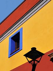 Colourful facade (chrisk8800) Tags: barcelona street color colour building facade streetlamp