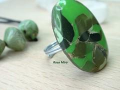 Anillo Jaspe verde AN.0258   OOAK (Espuma de mar by Rosa Mira) Tags: jewelry bijoux ring fimo massa clay sculpey masa pate jewel joyeria kato anillo bague cernit joya bisuteria polymer premo polyclay sortija arcilla polimerica