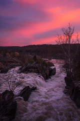 Saturation (navinsarma) Tags: longexposure pink sunset greatfalls maryland places northamerica subjects conationalhistoricalpark