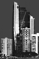 Downtown Miami, Florida, U.S.A. / Brickell Key architecture (jorgemolina37) Tags: urban blackandwhite usa building monochrome skyline skyscraper cosmopolitan nikon downtown cityscape realestate metro florida miami monochromatic highrise metropolis residential metropolitan condominium southflorida centralbusinessdistrict biscaynebay magiccity commercialproperty miamidadecounty jorgemolina canonrebelt5i