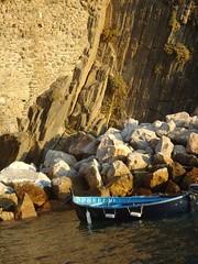 Riomaggiore, Italy (miawhite9) Tags: blue sunset sea italy colors beautiful beauty boat europe natural cinqueterre riomaggiore