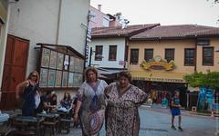 Sad woman in Kaleici, Antalya