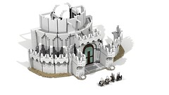 Minas Tirith 04 (Anduin1710) Tags: city white men king minas lego lotr return tolkien middleearth jrr tirith the thelordoftherings ldd gondor digitaldesigner