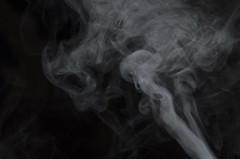 Ghost (justinlegoff) Tags: light contrast dark death candle lumire mort smoke flash bougie fume thanatos