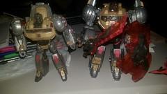 Comparison. (Tumbler2) Tags: slag sludge swoop snarl grimlock planetx fallofcybertron planetxdinobots