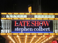 Late Show with Stephen Colbert - Ed Sullivan Theatre 6455 (Brechtbug) Tags: show new nyc david sign night ed marquee for theater with theatre manhattan broadway talk stephen midtown finished shows late steven former sullivan renovation letterman colbert 2016 02082016