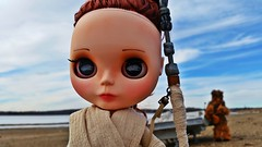 Rey (Sandra@HandGroupStudios) Tags: eye star doll chips millennium falcon rey blythe wars custom chewbacca