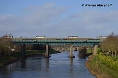 CPW's outside Monasterevin, 1/2/16 (hurricanemk1c) Tags: irish train rail railway trains railways irishrail cpw dfds 2016 iarnrd ireann monasterevin detforenededampskibsselskab iarnrdireann 1130waterfordballina