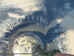 Sunburst In Seacoal (Munki Munki) Tags: sea pier sand lowtide starburst saltburn seacoal pierleg wintersunsine