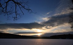 2016_0206Sunset0002 (maineman152 (Lou)) Tags: sunset sky cloud sun lake nature clouds skyscape landscape frozen pond maine february sunrays frozenover wintersky frozenlake skyview naturephotography winterscene skyscene landscapephotography naturephoto skycolor skycolors skydrama westpond landscapephoto