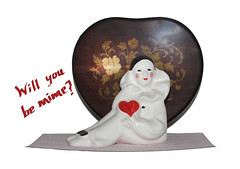 Will you be mime? (timeinabox) Tags: holiday heart valentine mime playonwords timeinabox