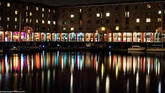 Albert Dock at night (8 of 19) (andyyoung37) Tags: uk longexposure england water night liverpool reflections boats cityscape unitedkingdom gb albertdock merseyside