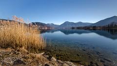 Lake Tegernsee (hjuengst) Tags: longexposure winter panorama mountain lake alps reflection water germany bayern bavaria pano berge alpen tegernsee langzeitbelichtung reflektionen ndfilter montgolfiade badwiessee graufilter nikond7000