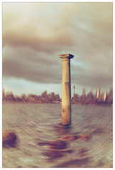 Transported in time. (Peter & Olga) Tags: sky abstract movement le column february filters sydneyharbour mosman bradleyshead 2016 d810 olgabaldock
