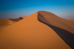 Empty Quarter, United Arab Emirates, 2016 (marc_guitard) Tags: travel blue sky nature landscape sand desert natural empty dunes sandy united dry tourist east emirates arab arabia destination quarter arabian traveling middle abu dhabi arid