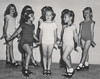Little girls practicing a tap dance routine (simpleinsomnia) Tags: old white black girl monochrome vintage found blackwhite dancers little antique snapshot performance photograph littlegirl vernacular tap leotard foundphotograph tapdancers