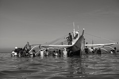 Fishermen (mcgoma) Tags: blackandwhite bw blackwhite fihing catchingfish