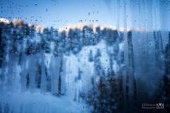 Morning (Laurent VALENCIA) Tags: snow france alps building sports montagne canon buildings woods ciel surfers neige foule savoie laplagne matin pistes skieurs frenchalps immeubles sapins glisse 50mpx 5dsr