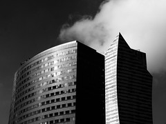 b&w (Darek Drapala) Tags: city sky urban blackandwhite bw building architecture buildings town blackwhite poland polska panasonic warsaw warszawa skyskape panasonicg5