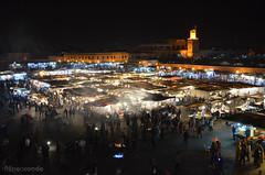 Praa da Medina  Noite// Medina's Square/Fair/Food Market at Night (Filipeoconde) Tags: cidade gente feira morroco medina praa marrakesh marrocos multido