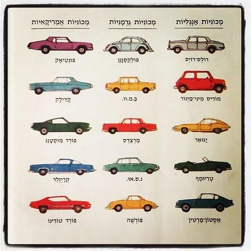 כמו כל דבר, גם מכוניות העולם מתחלקות לשלושה סוגים #מכוניות #ענתיקה #צבעוני #ספרייתמדעלילד #איןעלשנותהשבעים #colorful #cars #seventees