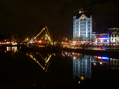 The White House (m_artijn) Tags: white house reflection night boat rotterdam harbour kade sail nl gelderse