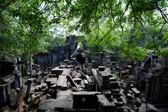 Beng Mealea,Cambodia ( (Chelsea Lee)) Tags: rock stone temple ruins cambodia jungle historical remains ankorwat greentree historicalsites bengmealea