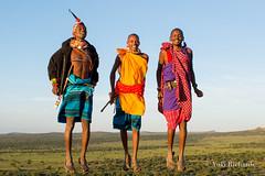Happy Jumping Maasai (yukirichards) Tags: africa travel wild nature trekking jump jumping nikon view kenya wildlife hike safari explore maasai d610 walkingsafari laikipia