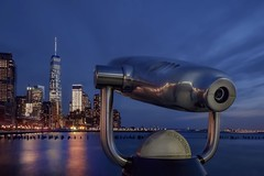 Viewing machines (karinavera) Tags: longexposure travel blue newyork architecture river cityscape manhattan wtc viewingmachines nikond5300