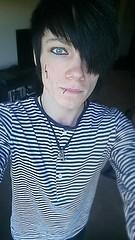 emo (captainnaus) Tags: gay boy anime guy rose hotel tokyo stripes emo goth scene tattoos lgbt moe trans piercings angst alternative hentai asexual ouran naus tumblr icicleark