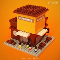 nanoblock Starbucks (inanoblock) Tags: building lego bricks blocks build moc brickart kawada brickartist nanoblock  nanoblocks