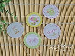 Toppers Docinhos - Ch de Beb - Sophia (Ligia Batalha) Tags: passarinho jardim borboletas chdebeb