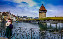 Chapel Bridge, Lucerne (dhingrab) Tags: bridge switzerland chapel lucerne kapellbrcke