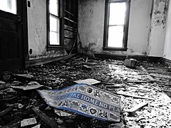 (there's)no place like home... (BillsExplorations) Tags: abandoned home farmhouse ruins decay forgotten abandonedhouse weathered ruraldecay selectivecolor shuttered noplacelikehome abandonedillinois oncewashome