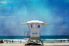 Mission Beach, California (Ken Mickel) Tags: ocean california texture beach water fun outdoors photography digitalart textures textured missionbeach lifeguardtower