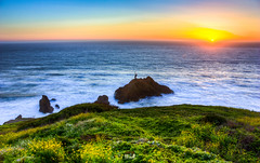 Sunset at Mussel Rock Park (TanmayThakur) Tags: sanfrancisco california park sunset rock high exposure dynamic state ngc multiple mussel range pacifica hdr highdynamicrange musslerock addingcolorstopixels artxml