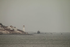 Sub Sea Vistor (langdon10) Tags: canada water island novascotia overcast submarine halifax dartmouth halifaxharbour georgesisland ligthouse canon70d