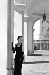 Laura (Stefania_Ginger) Tags: portrait italy white black girl beautiful italian dress audrey hepburn photoset
