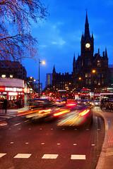 Day #3005 (cazphoto.co.uk) Tags: london lumix lights dusk panasonic eustonroad traffictrails stpancrasstation stpancrashotel project366 230316 dmcgx7 panasonic20mmf17lumixgiiasph beyond2922 2016th73 hanksnotripod irestedthecameraagainstalamppost