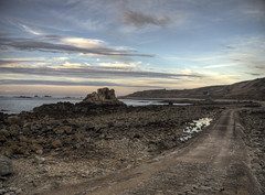 The causway to Clonque, Alderney (neilalderney123) Tags: landscape olympus alderney landmarktrust causway clonque 2016neilhoward