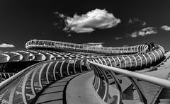 Sevilla (Bart K. Prins) Tags: panasonic lumix dmclx7 bw sevilla seville spain blackandwhite metropolparasol cloud sky architecture