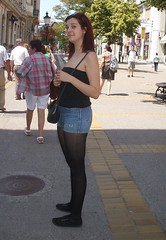 I guess she noticed me (daniel.findlay88) Tags: street summer girl legs candid leg young cutie