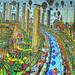 zentangle painter zen tangle artist  zeentangle drawing  tutorial artworks  pattern paintings  artists painting  ציור נאיבי מלא שירבוטים בדיקה של גבולות העומס עד כמה אני יכול להעמיס פרטים בציור מלאכת השרבוט אלפי רישמוים בציור אחד