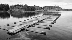 The Pier (ernsterdmann) Tags: blackandwhite water reflections pier waterreflections